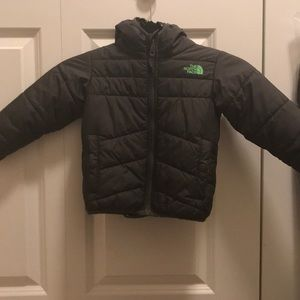 North face reversible puffer jacket